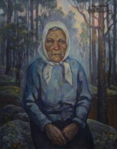 Сказительница Артемьева. Холст, масло, 80x60