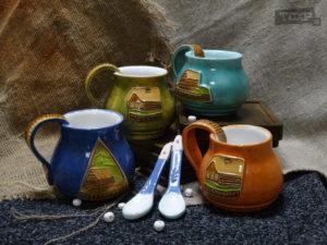 Чашки Карелия глина, глазурь, 0,3 мл.