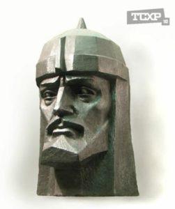 Александр Невский. Гипс, тон, 56x34x40