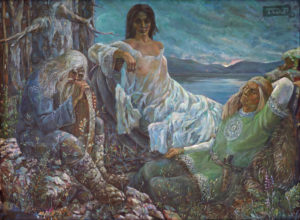 Забытая руна. Фонд музея ИЗО РК. Холст, масло, 122x165