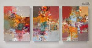 Итальянские каникулы. Абстрактный триптих, холст, акрил, 80x60 см