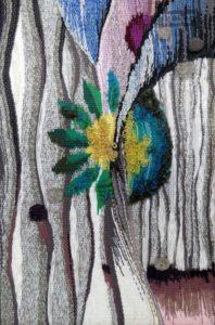Весеннее настроение. Гобелен, ручное ткачество, шерсть, х/б, 690x590