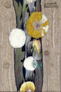 Воспоминание о лете. Гебелен, ручное ткачество, шерсть, х/б, 690x590