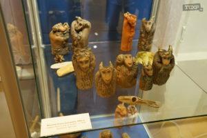 Аллегорические фигурки животных. Терракота, высота до 15 см