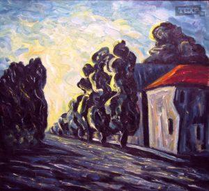 Беляков Валерий Площадь Кирова 60х60 1992г. плита масло